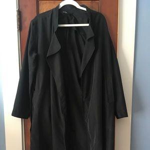 American Apparel black trench-coat